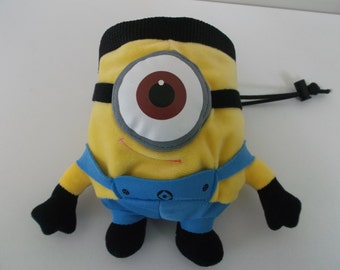 Minion Rock Climbing Chalk Bag made from a child's plush toy