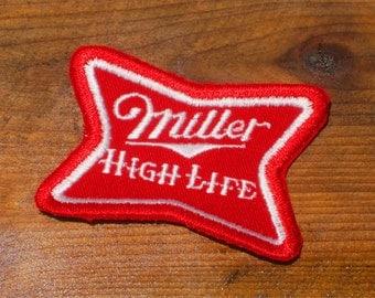 Vintage 70s Miller High Life Beer Sew-On Patch