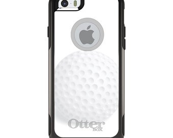 OtterBox Commuter for Apple iPhone 5S SE 5C 6 6S 7 8 PLUS X 10 - Custom Monogram - Any Colors - White Golf Ball