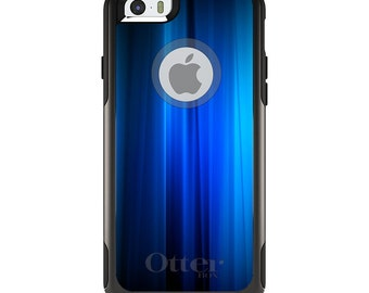 OtterBox Commuter for Apple iPhone 5S SE 5C 6 6S 7 8 PLUS X 10 - Custom Monogram - Any Colors - Bright Blue Curtain