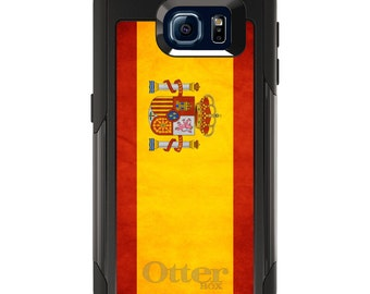 OtterBox Commuter for Galaxy S4 / S5 / S6 / S7 / S8 / S8+ / Note 4 5 8 - CUSTOM Monogram - Any Colors - Spain Old Spanish Flag