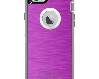 Stainless Steel OtterBox Defender / Apple iPhone OR Samsung Galaxy / Hot Pink / Custom Personalized Monogrammed / Any Color / Any Font