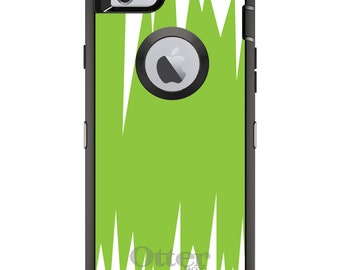 Green Spikes OtterBox Defender / Apple iPhone OR Samsung Galaxy / White Zig Zag / Custom Personalized Monogrammed / Any Color / Any Font