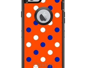 Florida OtterBox Defender / Apple iPhone OR Samsung Galaxy / Gators Color Polka Dot / Custom Personalized Monogrammed / Any Color / Any Font