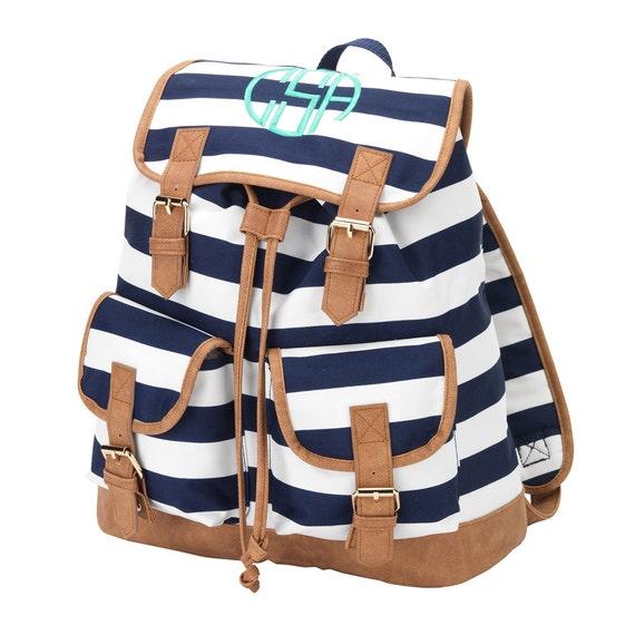 BookBag Book Bag Monogrammed Book Bag Back to School