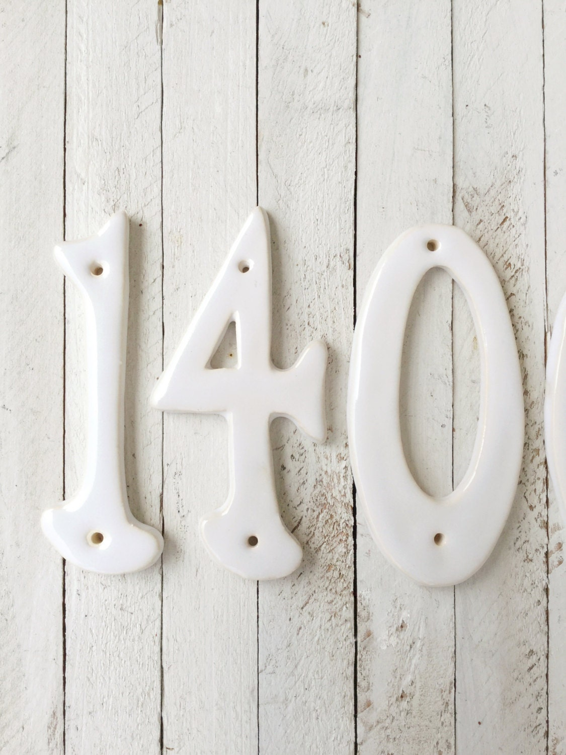 Numbers Ceramic Handmade House Numbers Wall Plaque Classic