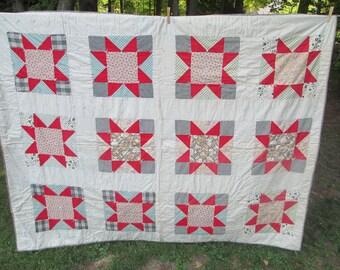 Vintage large block quilt