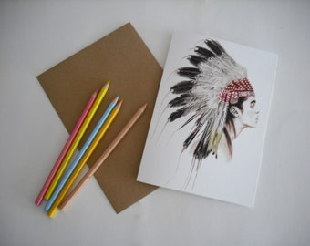 Sioux Greeting Card.