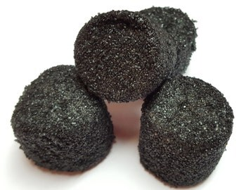 Black Sugared Marshmallows 2 Pounds White Approx. 100 Pieces
