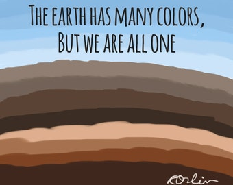 The earth has many colors