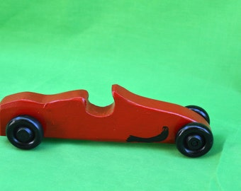 Car, Toy Car, Wood Car, Christmas Red Race Car, Race Car, Wood Race Car, Red Car