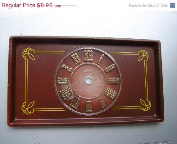 Vintage clock parts mantle clock parts clock dial - Steampunk mantle clock ...