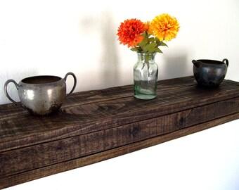 Rustic Floating Shelf Floating Shelves Pallet Wood Shelf Reclaimed Wood Shelf Wall Shelf