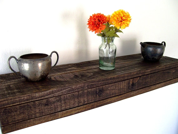 Rustic Floating Shelves Reclaimed Wood Floating Shelf Wood Shelf Reclaimed  Wood Shelves Wall Shelf Pallet Wood - Rustic Floating Shelves Reclaimed Wood Floating Shelf Wood