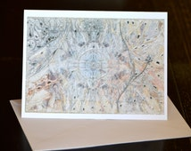 Wedding Curated Greeting Card & Envelope ~ Kingdoms Unite Thru The Sun - Art Curation on Back From Transformational Energy Art by Deprise