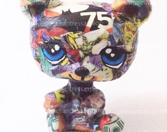 Custom Littlest Pet Shop Toy LPS DC the Comic Bear