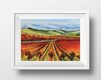 Napa Valley Print, Napa, Wine Country, Giclee, California, 5x7, 8x10, 11x14, 12x16, Print, Art, Vineyard, California landscape, Vineyard Art