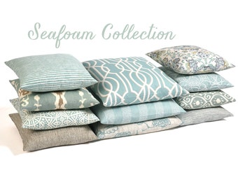 Seafoam Collection Lumbar Pillow Cover // Rectangle Pillow Cover-3OG3