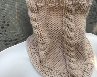 40%OFF, Natural knit cowl, Acrylic neck warmer