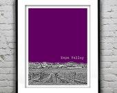 Napa Valley Skyline Poster Art Print California CA Wine Region