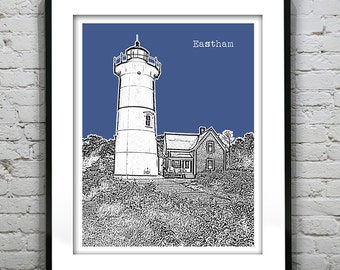 1 Day Only Sale 10% Off - Eastham Cape Cod Skyline Poster Art Print Massachusetts MA Version 2