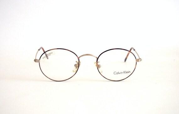 Vintage Frame Eyeglasses Calvin Klein mod. 225 Round metal