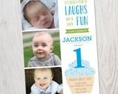 First Birthday - Boy Birthday - Girl Birthday - DIY Printable Invitation - Photo Invitation