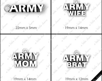 Word Charms, Military, Army, Navy, Marines, Air Force, National Guard, Coast Guard