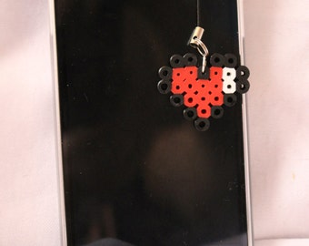 Zelda Heart container cell phone charm