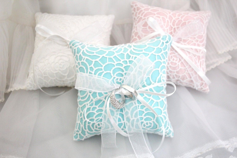 Rose Flower Wedding Ring Pillow Ring Cushion Ring Bearer