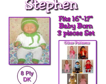 STEPHEN To fit Baby Born and 16 or 17 inch similar size dolls