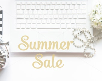 ON SALE Styled Stock Photography, Simple White Theme, Mockup with Keyboard, Mock Up Jewelry, Desktop Mockup, Digital Background