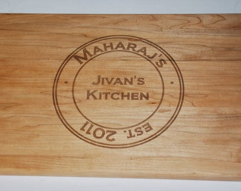 Personalized Pine Cutting Board, Custom Engraved - 9 x16 - Wedding Gift, Anniversary Gift, Housewarming Gift