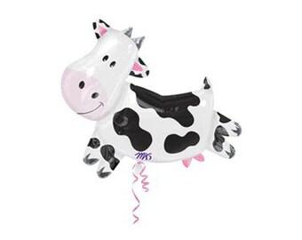 "30"" Cow Balloon, High Quality - by Celebration Lane"