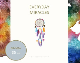 Everyday Miracles Daily Intention Setter