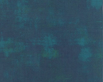 Moda BASIC GREY Grunge Peacock Teal Blue Green Purple 30150-230 Fabric BTY 1 yd