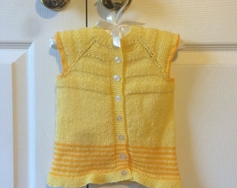Yellow and Orange Hand Knit Best for Babies