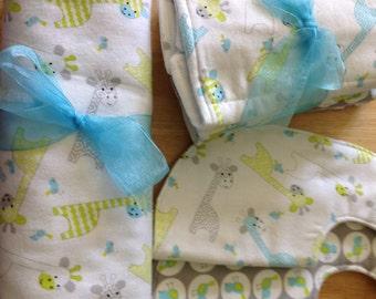 Giraffe Flannel Baby Set