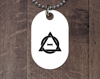 Therian symbol dog tag