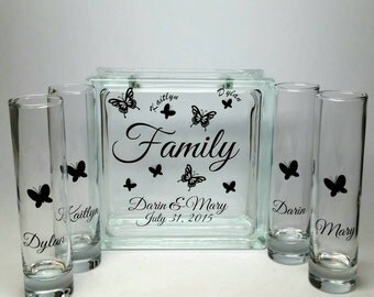 Unity Sand Set For Blended Family Wedding Ceremony Butterfly Theme Custom