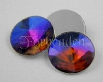 Preciosa Art 2006 Crystal Volcano Flatback Rivoli Rhinestones 14mm (4)