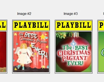 Theater / Show Charm - Playbill Play Bill - The Best Christmas Pageant Ever