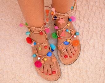Leather Women's Sandals PON PON