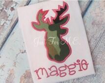 Personalized Deer Hunting Applique Shirt or onesie ,Deer Applique, Personalized Hunting shirt or onesie,Custom Birthday Shirt FREE MONOGRAM