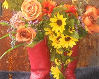 Boots Flower Arrangement