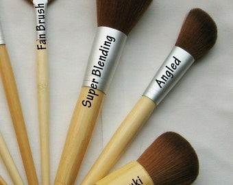 Vegan Brush for Mineral Makeup Eco friendly Bamboo Handle Choose 1 or More Brushes See Description for Available Styles and Quantities