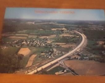 Vintage ORIGINAL pennsylvania turnpike Postcard Free Shipping