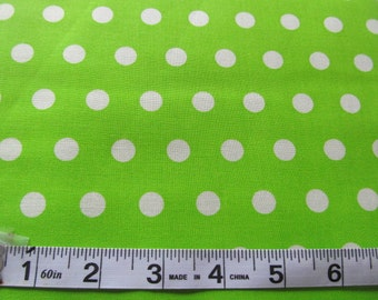 Little Dot Lime Polka Dot Sewing Quilting Fabric by the Yard #505--