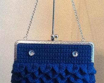 crochet purse evening mermaid
