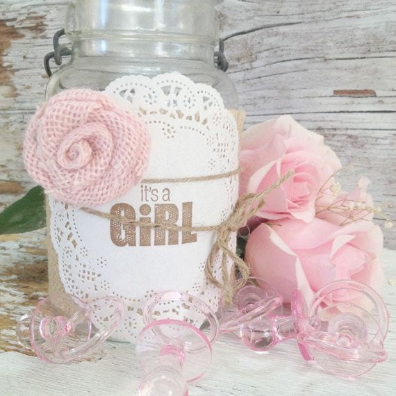 diy baby shower decorations for 10 jars by denadanielledesigns